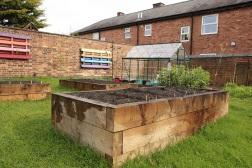 Garden at easter